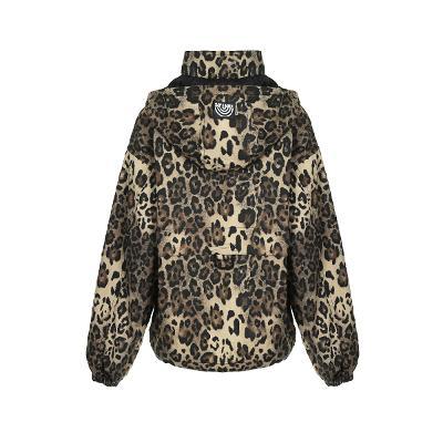 leopard pattern hoodie